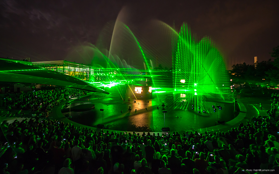 Tarm outdoor laser show with 3d effects at VW Autostadt